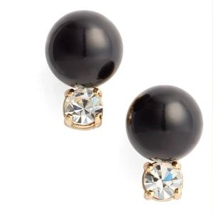 Kate Spade In a Flash Stud Earrings in Black